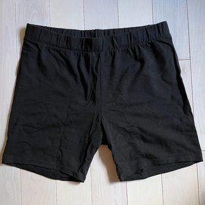 Black stretchy boy shorts, M, 5 inch inseam